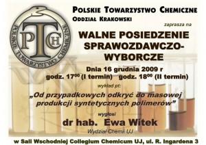 Walne Zgromadzenie Wyborcze Oddziału Krakowskiego PTChem