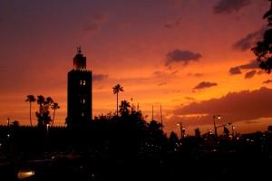 Marakesz - zachód słońca (fot.Krystyna Milczarek)