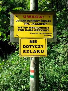Magórski Park Narodowy - ostrzeżenie