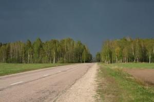 Droga gdzieś naŁotwie