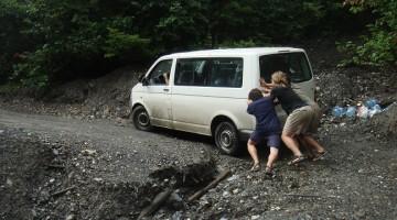 Droga w Svanetii zniszczona przez burze