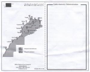 Maroko - karta - rewers