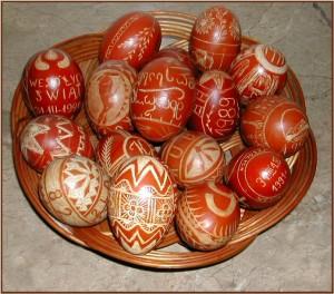 Drapane jajka wielkanocne (fot.Krystyna Milczarek)