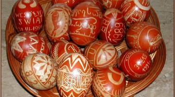 Drapane jajka wielkanocne (fot. Krystyna Milczarek)