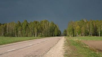 Droga gdzieś na Łotwie